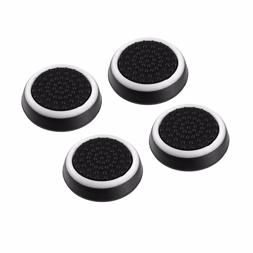 4pcs/lot Game Accessory Protect Cover Silicone Thumb Stick Grip Caps for PS4/3 for Xbox 360/for Xbox one Game Controllers image