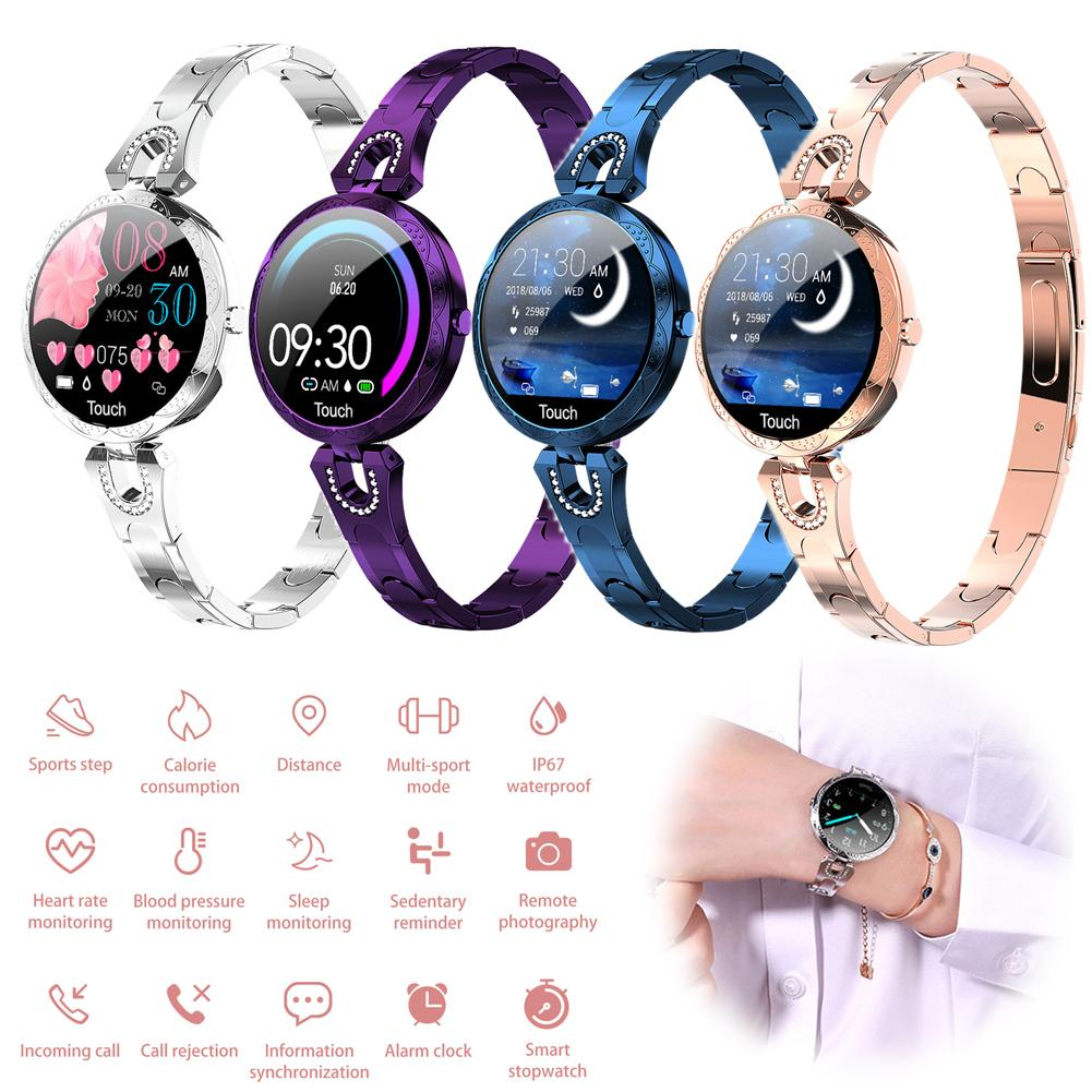 Women Lady Fitness Tracker Bracelet Heart Rate Monitor Bluetooth Smart Watch Phone Mate for Android iPhone Samsung LG