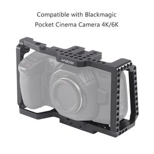 Image 4 - Andoer カメラケージワイドスクリーンビデオフィルム映画作るケージとクイックリリースのための 1/4 インチ 3/8 インチシューマウントカメラ 4 18K/6 18K BMPCC 4 18K 6 18K