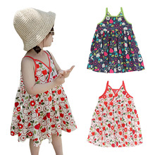Cute Dress For Summer Girl Children Clothing Baby Girls Sleeveless Floral  Dresses Clothes Kids Girl Princess Pageant Sundress dresses lucky child for girls 24 6 dress kids sundress baby clothing children clothes