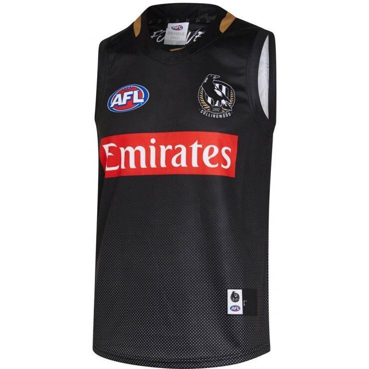 AFL COLLINGWOOD MAGPIES 2019 MEN'S TRAINING JERSEY size S-3XL Print custom names and numbers Top quality Free shipping(China)