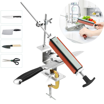 professional knife sharpener 360 Degree Rotation Fixed angle  With 4 Stones Whetstone afilador de cuchillo  Sharpening Tools [vk] rcl 10 1 cb 12 cr 10 layer 10 knife 12 gear 360 degree band switch