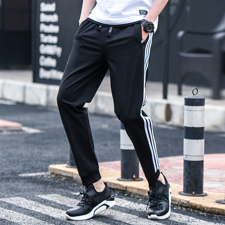 Pants Men's Autumn Korean-style Trend Beam Leg Athletic Pants Men's New Products Youth Casual Pants Students Three Bars Skinny P