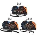 1/1.5/3/5/7.5/10 м Выдвижной Рулетка 3-сторонний выход-замок метрических резиновые измерительная лента правило
