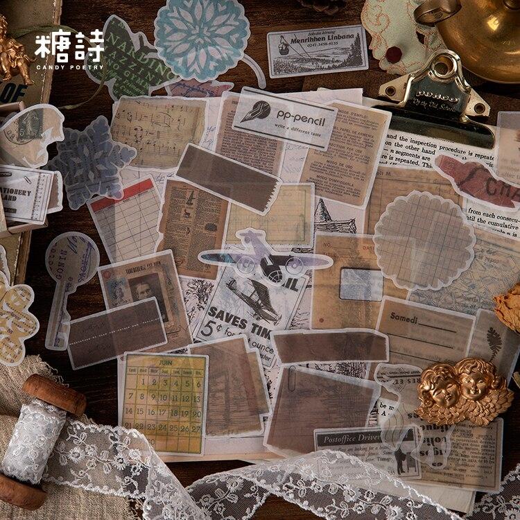 Journal Retro Matchbox Scrapbooking    Paper Sticker Vintage Forest Stickers