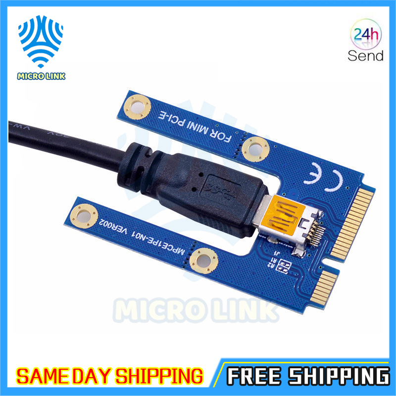 Mini PCIe to PCI express 16X Riser for Laptop External Graphics Card EXP GDC BTC Antminer Miner mPCIe to PCI-e slot Mining Card-5