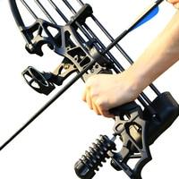 Arco recurvo de caza para tiro con arco de 30-50 libras, dardos de pesca al aire libre, mano derecha con accesorios para lazos, herramienta práctica de juego