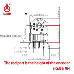Image 5 - Kailh 7/8/9/10/11/12mm 로터리 마우스 스크롤 휠 인코더 1.74mm 홀 20 40g 포스 PC 마우스 alps 엔코더 800,000 수명주기