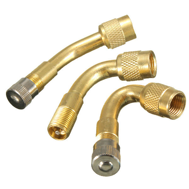 Auto Truck Motorcycle Car Angle Brass 45/90/135 Degree Air Tyre Valve Extension Adaptor Schrader Valve Stem Wheel Tires Parts