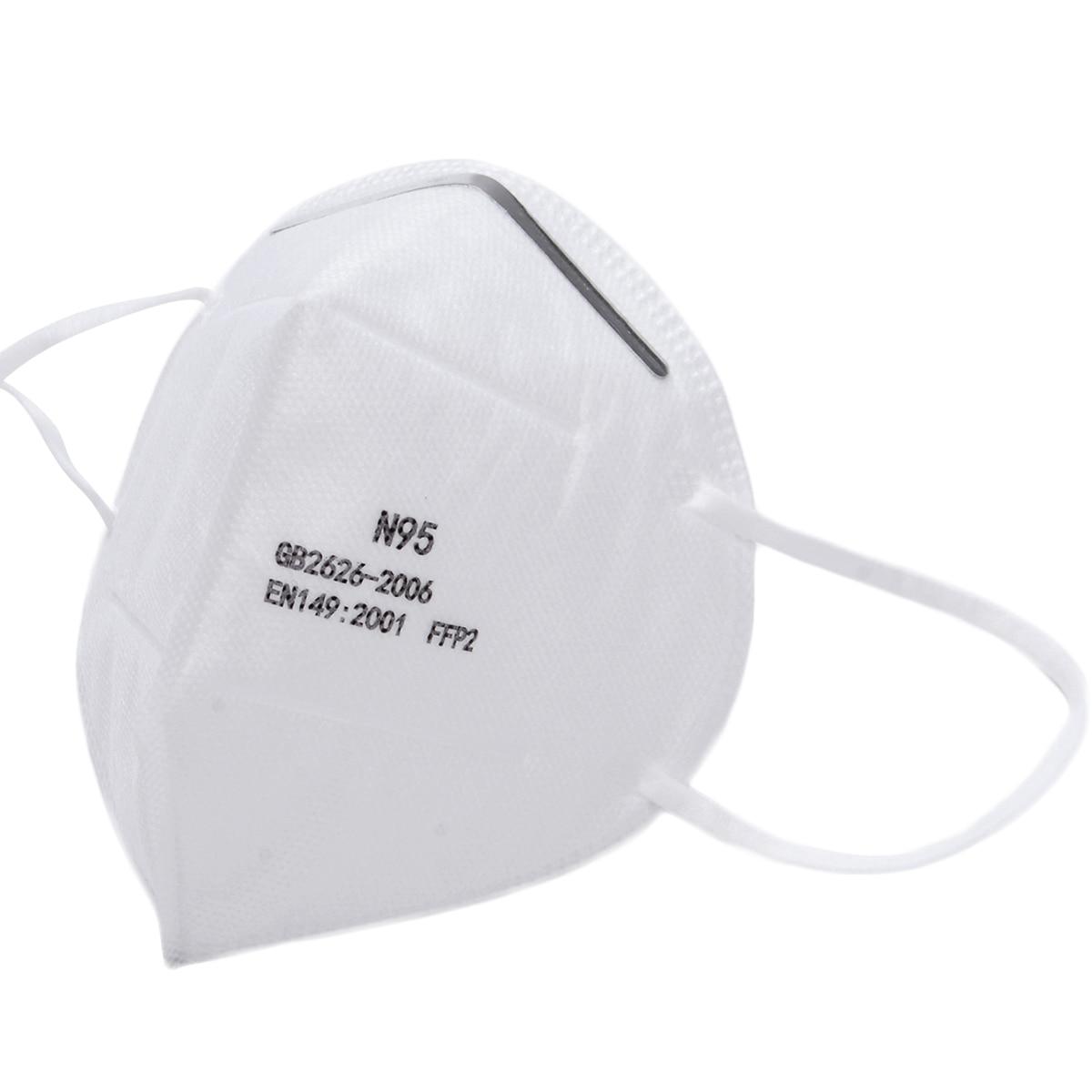 4PC Unisex Cotton Face N95 M-a-s-k CE FDA FFP2 Activated Carbon W Filter-Washable Reusable