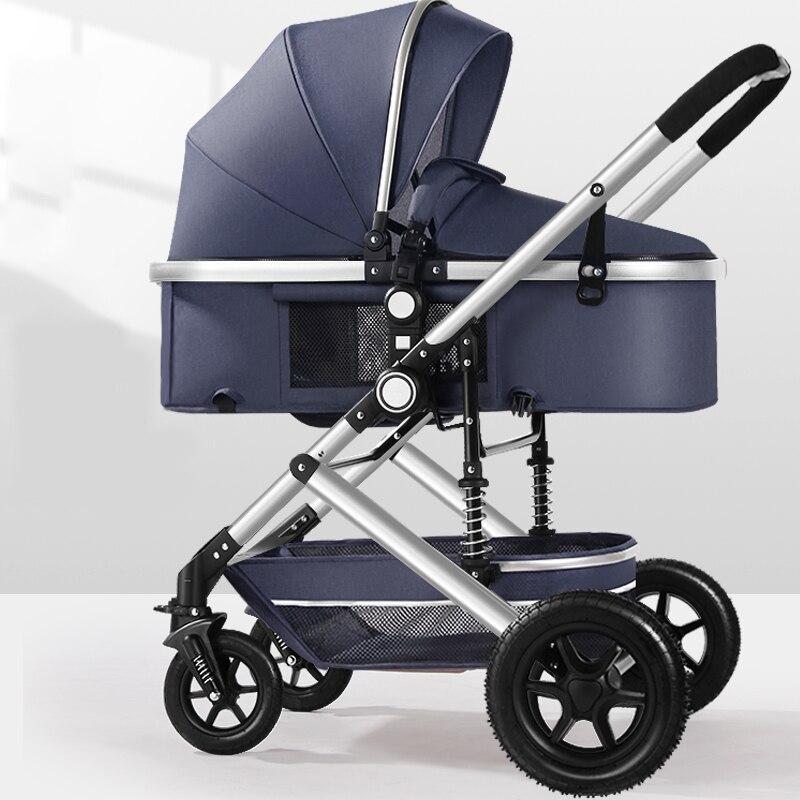 Bébé poussette 2 en 1 léger bébé poussette haute paysage bébé landau bébé poussette peut s'asseoir peut mentir bébé landau livraison gratuite