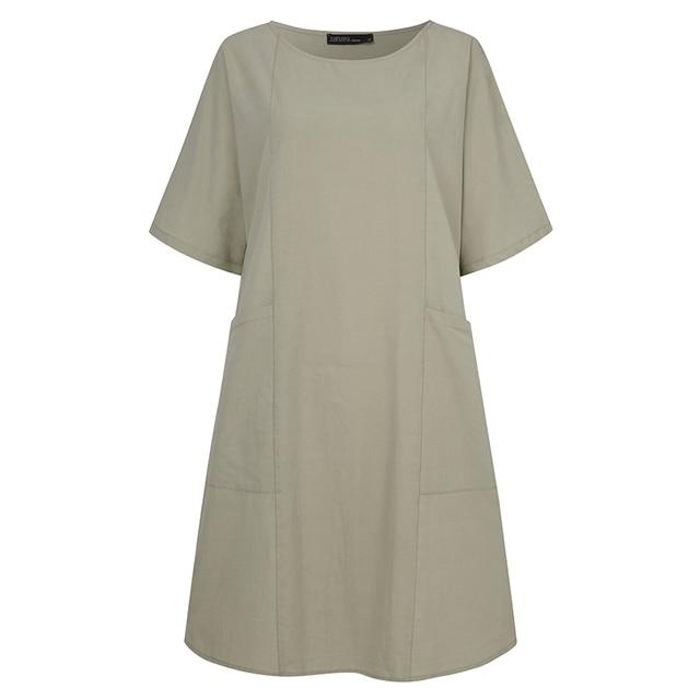 Vintage Short Sleeve Solid Shirt  6