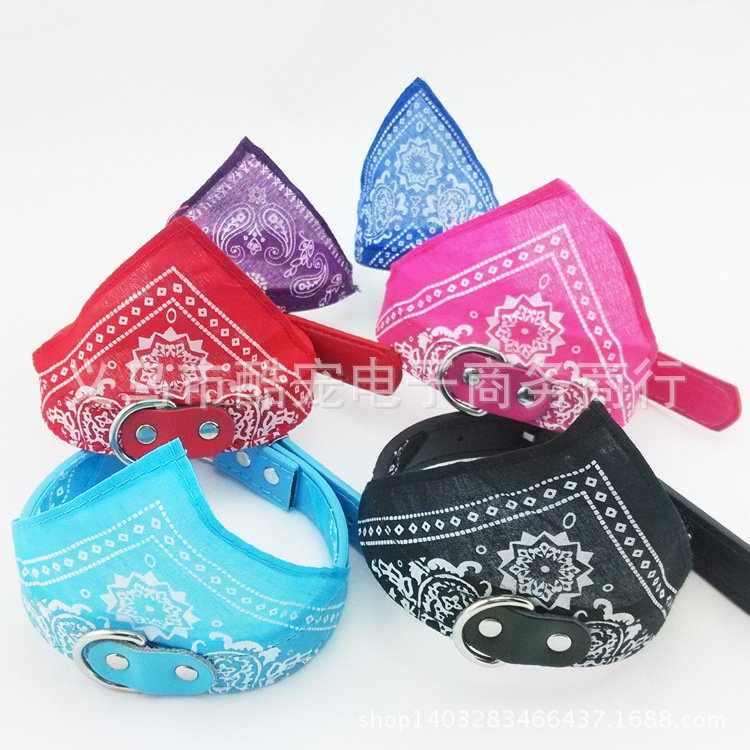 Store Promotional Pet's Saliva Towel Triangular Binder 1.0 Cm Dog Triangular Binder Neck Ring Triangular Another Dog Scarf