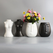 Vase Nude-Sculpture Home-Decoration Body-Design Nordic Industrial-Decor Human-Head Creative