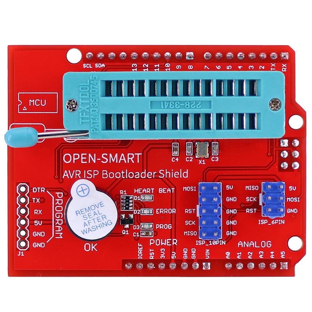 AVR ISP Bootloader щит, горящий программатор для Atmega328P модуль загрузчика с зуммером и светодиодный индикатор для Arduino UNO R3