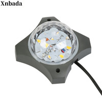 LED point light source cross star light round colorful color changing exterior wall lighting night lighting project outdoor wate