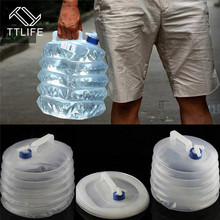 TTLIFE 5L 10L 15L Foldable Water Carrier Container Portable Outdoor Bucket Collapsible With Tap Camping Pump Bottle