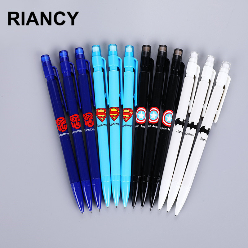 4pcs/lot Cute Superman Batman Mechanical Pencil Lead Portaminas Pencils Lapices Kawaii Pencil Lapiz Lapiseira Pen Potloden 05844