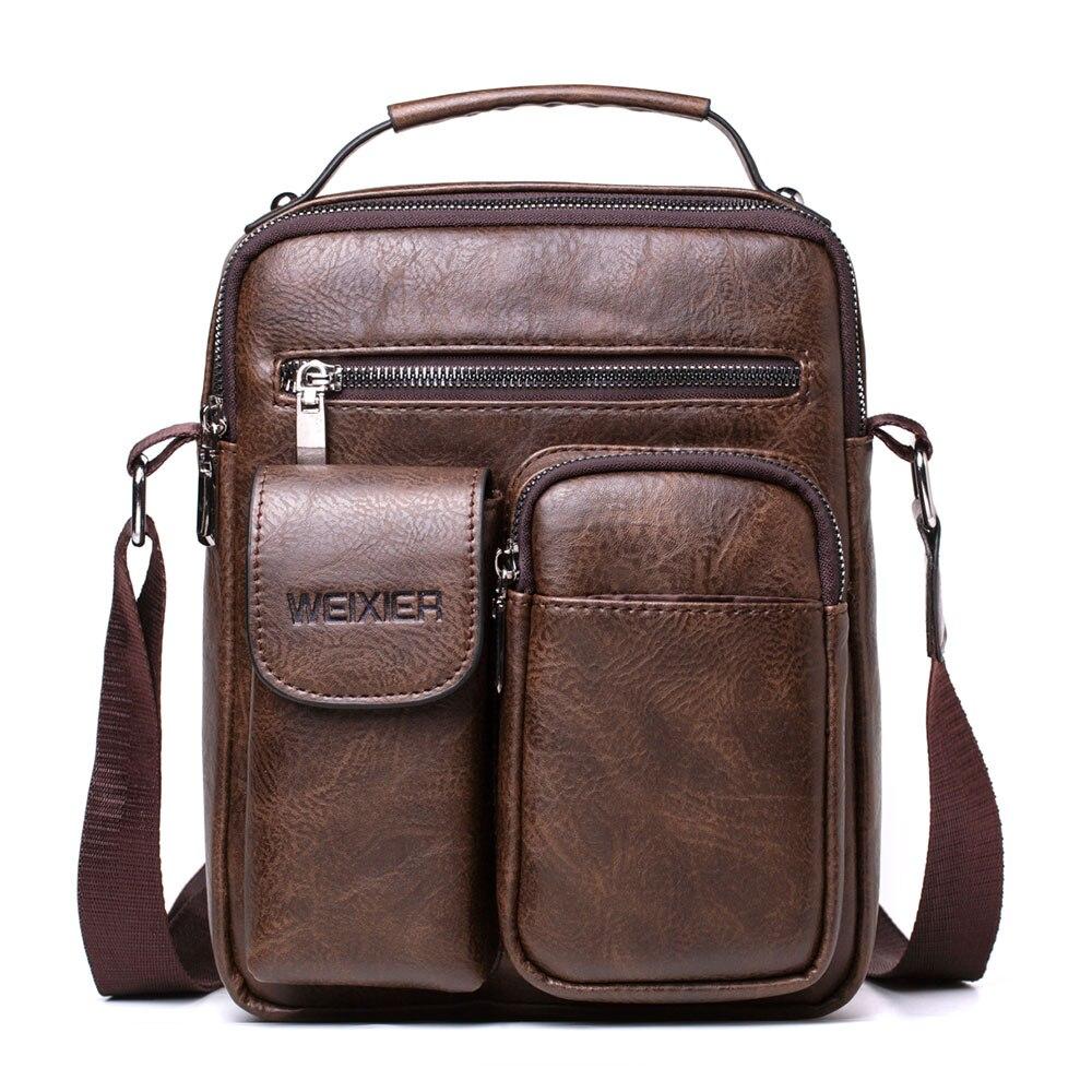 491.56руб. 40% СКИДКА|WENYUJH мужские кожаные сумки через плечо роскошные мужские сумки мессенджеры винтажные кожаные красивые сумки через плечо Прямая поставка|Сумки-кроссбоди| |  - AliExpress