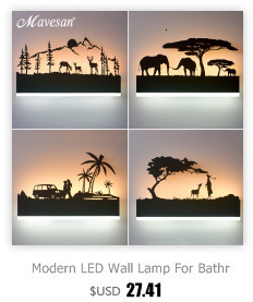 Modern wall lamps for bedroom white or balck color for living room bedside decoration Aisle wall light corridor hotel lustre led