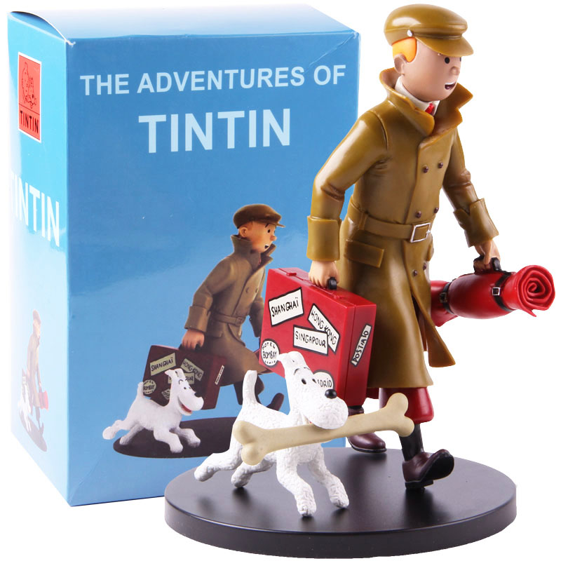 The Adventures Of Tintin Tintin Figurine PVC Statue Action Figure Collectible Model Toy