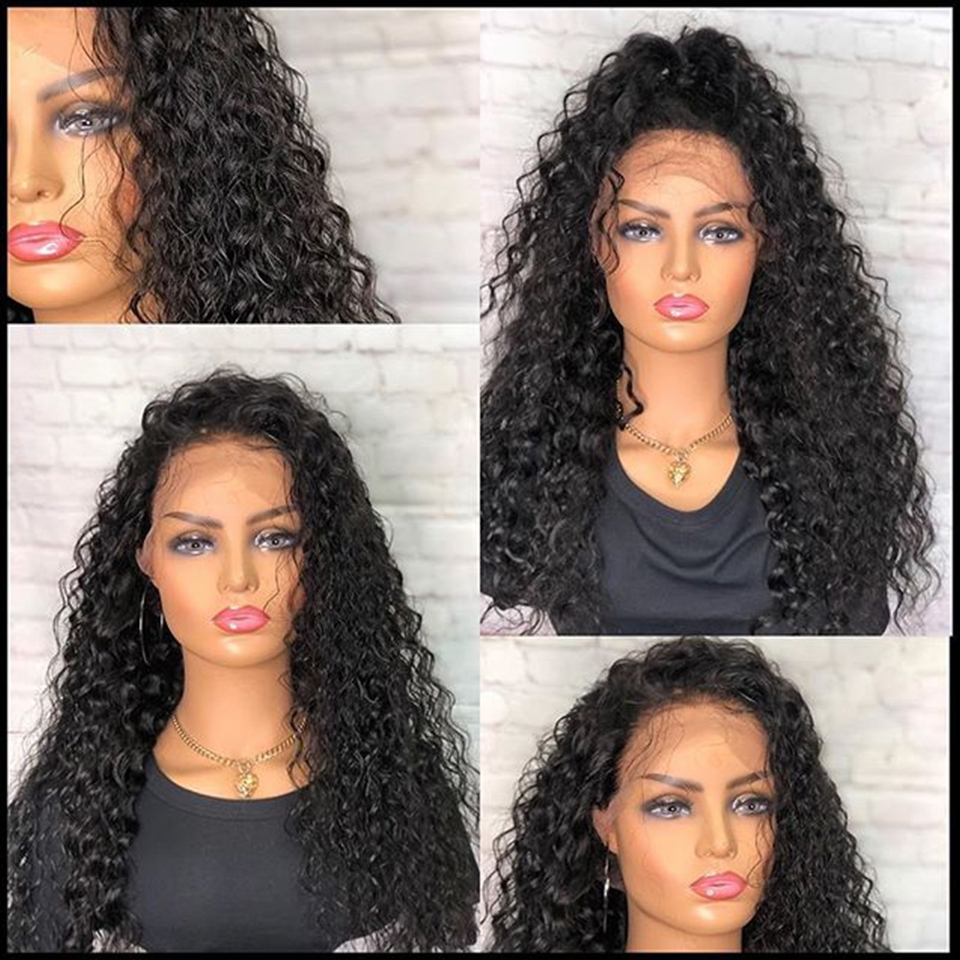 H4085d956eec9446db7849423a9908560M Jerry Curly Lace Front Human Hair Wigs With Baby Hair Brazilian Remy Hair Short Curly Wigs For Women Pre-Plucked Wig