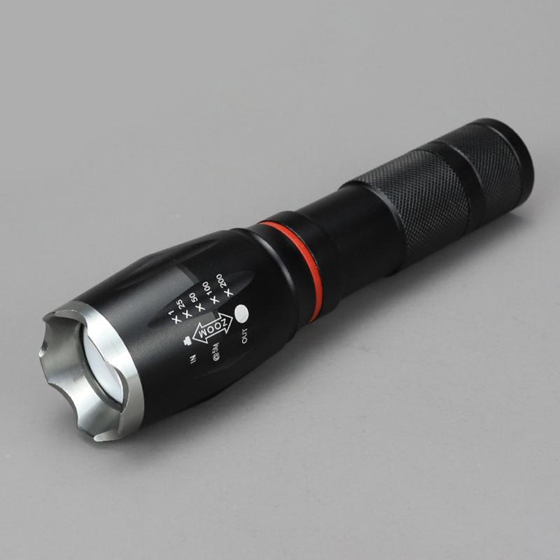 Светодиодный перезаряжаемая вспышка светильник T6 сильный светильник вспышки светильник 8000lm 18650 мощный аккумулятор велосипед светильник 4,8