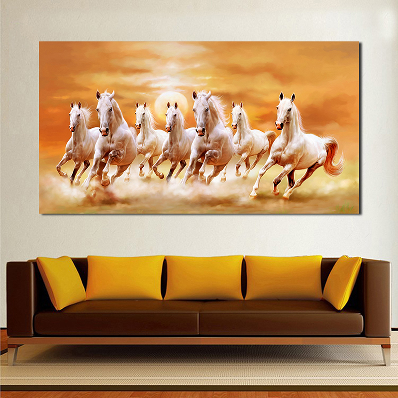 SELFLESSLY Sunset Horse Running Canvas Painting For Living Room Animal Poster Prints Wall Art Decorative Pictures Unframed