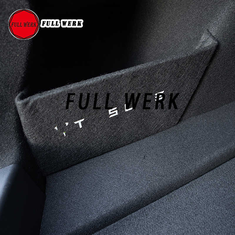 For Tesla Model 3 Interior Trunk Car Partition Tail Box Storage Black Divider