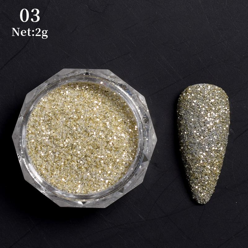 Rose Gold Bubble Mirror Powder Metallic Nail Glitter Holographics Chrome Dust Sparkling Flakes Pigment Manicur Nail Art Decor 32