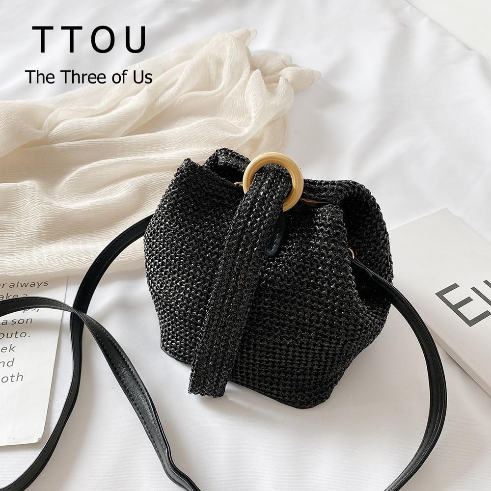 Summer Solid Straw Women Handbags Fashion Summer Holiday Designer Weaving Simple Handmade Rattan Travel Messenger Bag