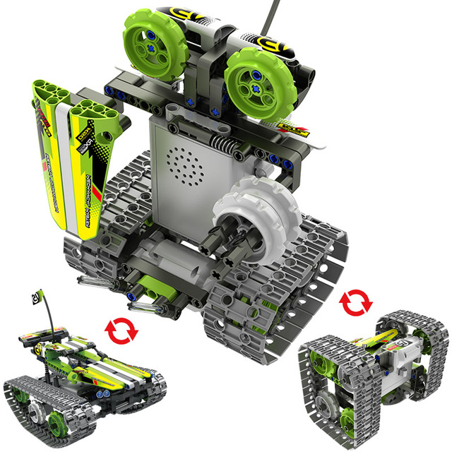 Technic Building Blocks DIY RC Car Remote Control Robot Racer Stunt Car 353pcs Building Blocks Bricks Toys For children Gifts 2