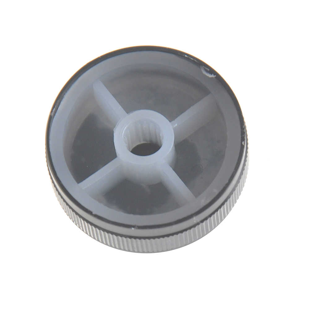 1PC 30*10*6 Mm Hitam Aluminium Kontrol Volume Amplifier Knob Roda