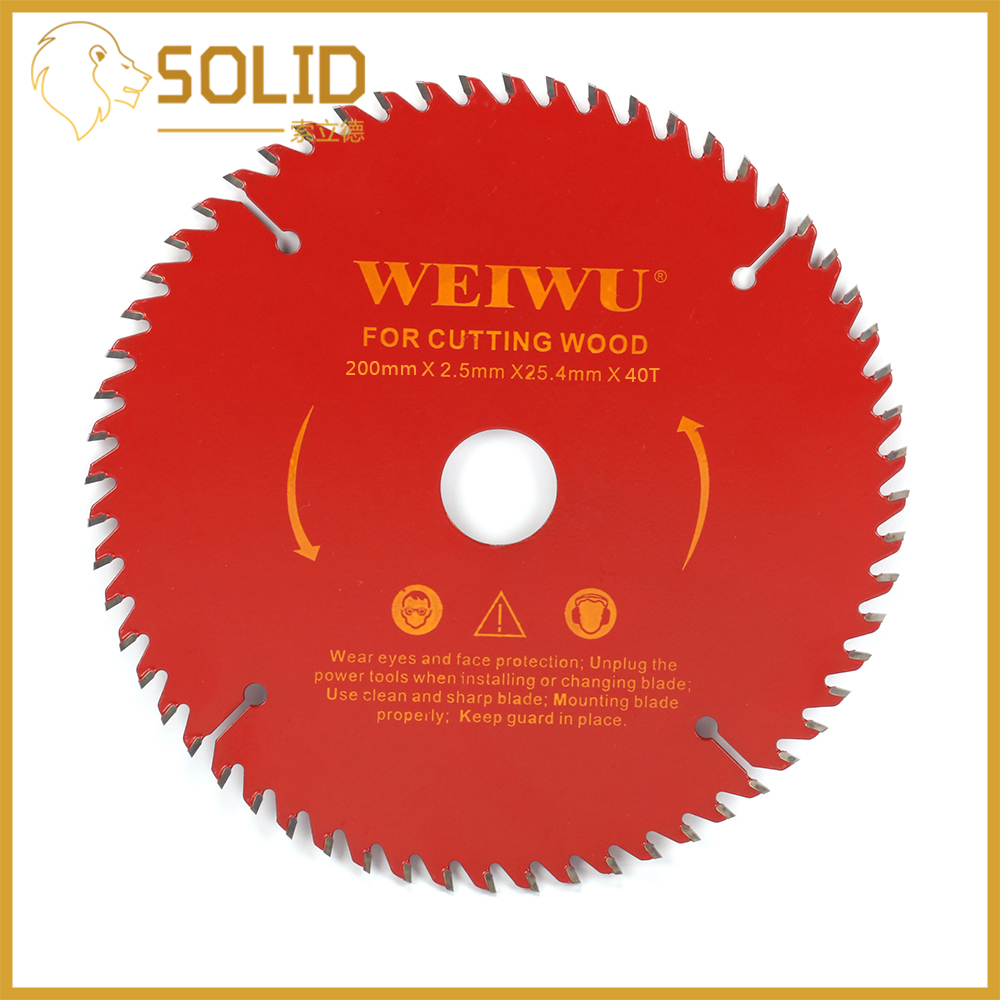 200mm Carbide Circular Saw Blade Wood Cutting Blade Round Wheel Discs For Woodworking Cutting Bore 25.4mm 40/60/80T Red