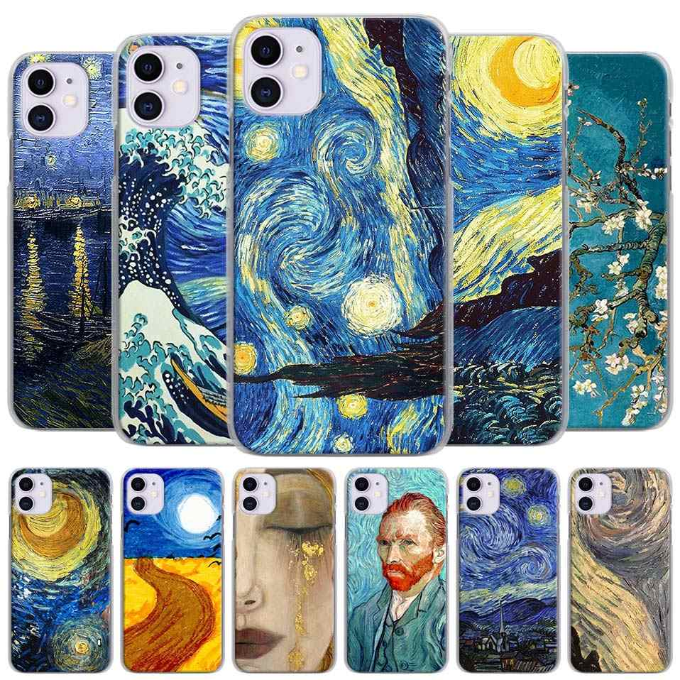 ภาพวาด Starry Night Van Gogh สำหรับ Apple iPhone 11 PRO MAX X XR XS MAX สำหรับ iPhone 6 6 S 7 8 PLUS 5 5S SE COVER