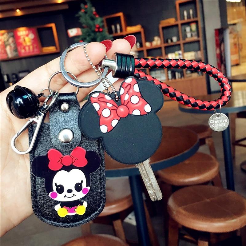 Fashion New Minnie Mickey Keychain Classic Disney Plush Toys For Girls Key Chain Cartoon Toy Keychain Cute Birthday Gifts Toys