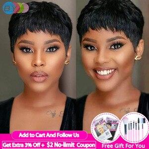 Pixie Cut Perücke Natürliche Locken Kurze Perücken Menschliches Haar Perücken Für Schwarze Frauen Brasilianische Perücke Natürliche Farbe 130% Dichte DURCH haar