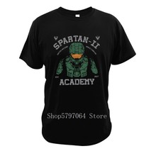 Halo T Shirt Master Chief Digital High Quality Size 3XL Print Soft Tee Video Game Tops Spartan Tshirt 100% Cotton(China)