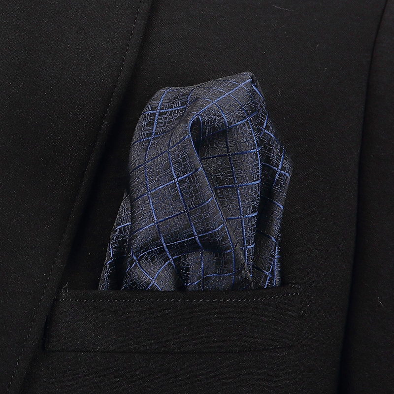 22x22cm  Colors Hankerchief Pocket Squares  Luxury Mens Silk Touch Soft Hankies
