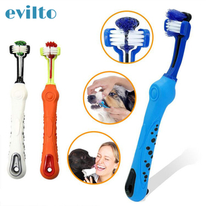 Three Sided Pet Toothbrush The
