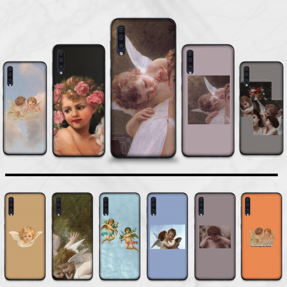 koji angel Bling Cute Phone Case For Samsung Galaxy A 3 6 7 8 10 20 30 40 50 70 71 10S 20S 30S 50S PLUS(China)