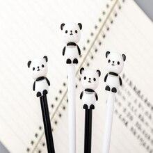 цена на Kawaii Cartoon China Giant Panda 0.5 black needle gel pen Creative black and white panda blue writing neutral pen Child gift