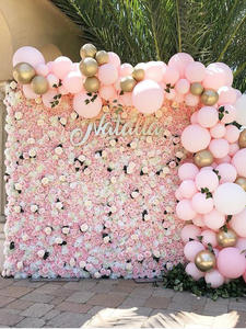 Silk Rose Flower Wedding Decoration Artificial Flower Wall for Wedding Home Decor Baby