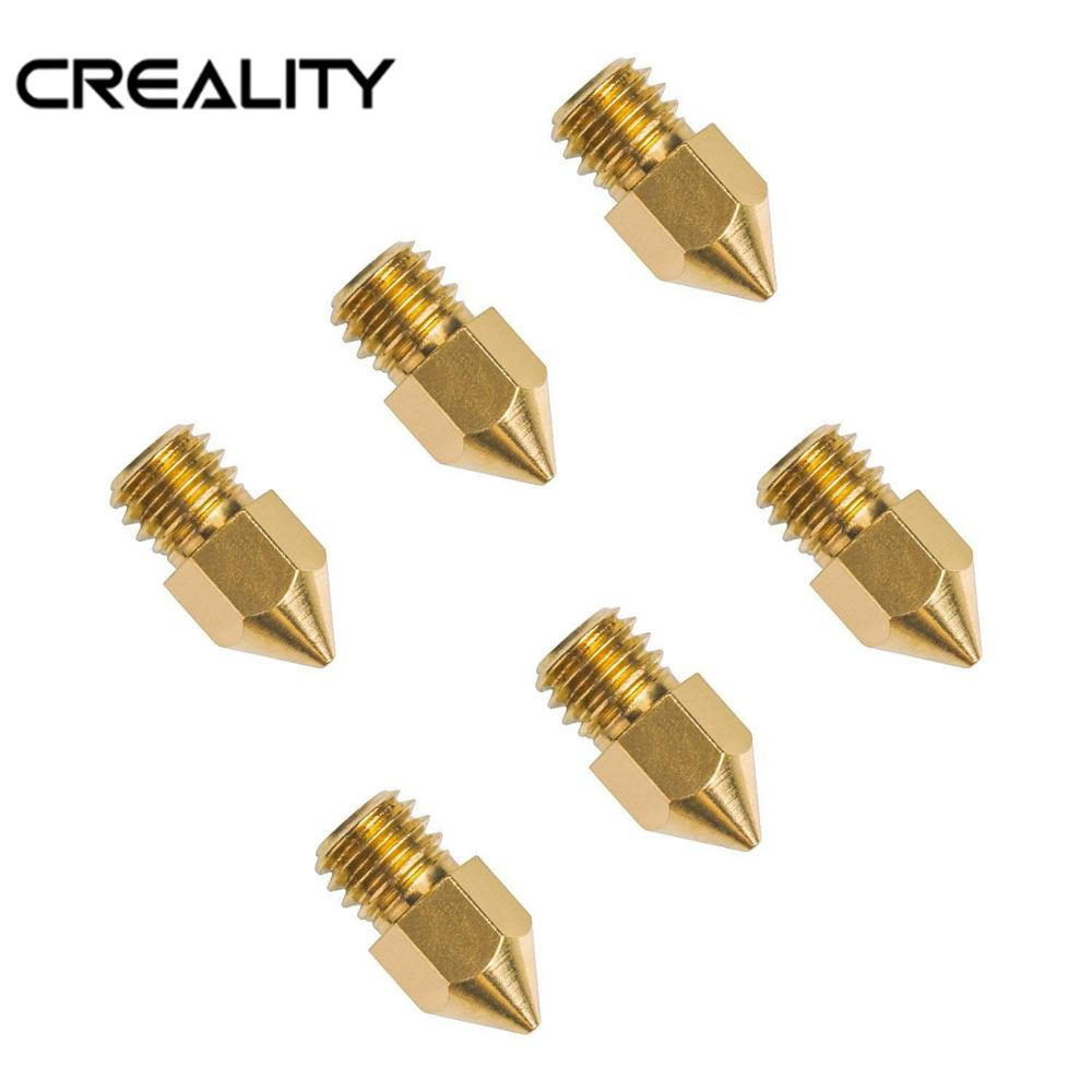 HOT Sale Ender-3 Accesorios 6PCS 0.2/0.3/0.4/0.5/0.6/0.8mm Hotend Nozzles For 3D Printer Parts Hotend For Creality 3D Printer
