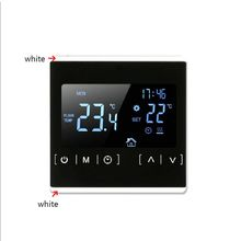 LCD Touch Screen Thermostat Electric Floor Heating System Water Heating Thermoregulator AC85-240V Temperature Controller wifi thermostat water floor heating smart programmable temperature controller with lcd touch screen alarm clock external sensor