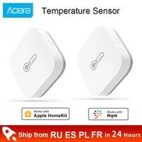 Sensor de temperatura y humedad Xiaomi Aqara, Sensor de ambiente de presión de aire, control remoto inteligente, aplicación Mi Home, Zigbee con Gateway 3