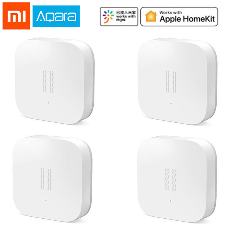 Original Xiaomi Mijia Aqara Vibaration Sensor And Sleep Sensor Valuables Alarm Monitoring Vibration Shock Work With Mi Home App