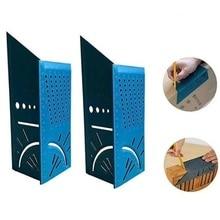 Regla para carpintería 3D, medidor de ángulo de flexión, herramienta de medida de tamaño cuadrado, madera/tubos