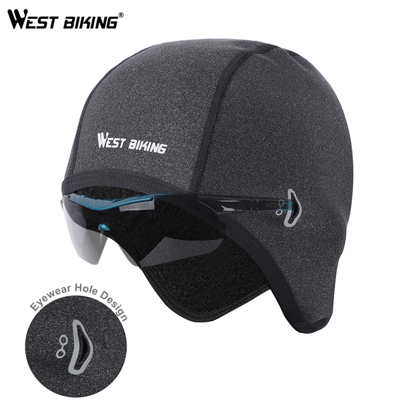 WEST BIKING Cycling Cap Winter Man Woman Sport Windproof Thermal Bicycle Fleece Cap Running Skiing Head Hat Bike Caps