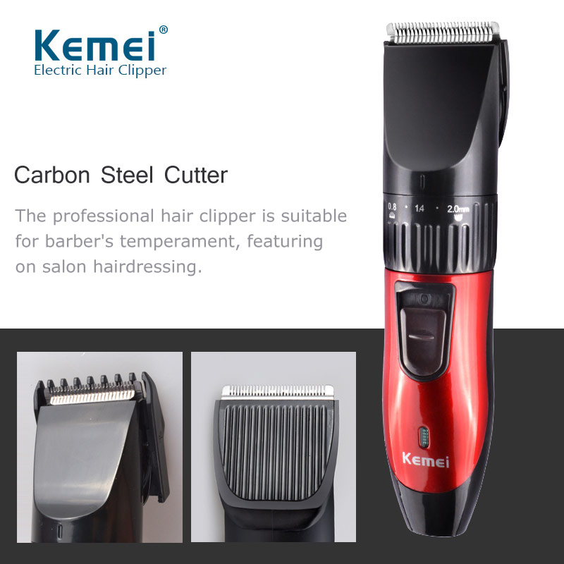 Kemei KM-730  Professional Hair Trimmer Hair Clipper Rechargeable Hair Cutting Machine Electric Shaver For Men Beard Trimmer